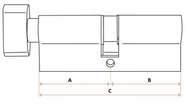schlie zylinderl nge richtig messen. Black Bedroom Furniture Sets. Home Design Ideas